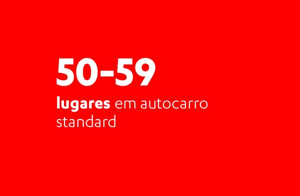 50 a 59 lugares em autocarro standard